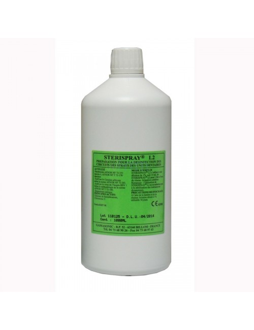 STERISPRAY SOLUTION DESINFECTION CIRCUITS SPRAYS DENTAIRES FLACON 1 L