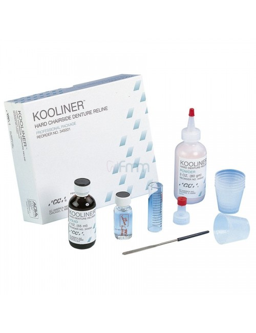 GC KOOLINER RESINE DURE REBASAGE AUTOPOLYMERISABLE 80 GRS + 55 ML*