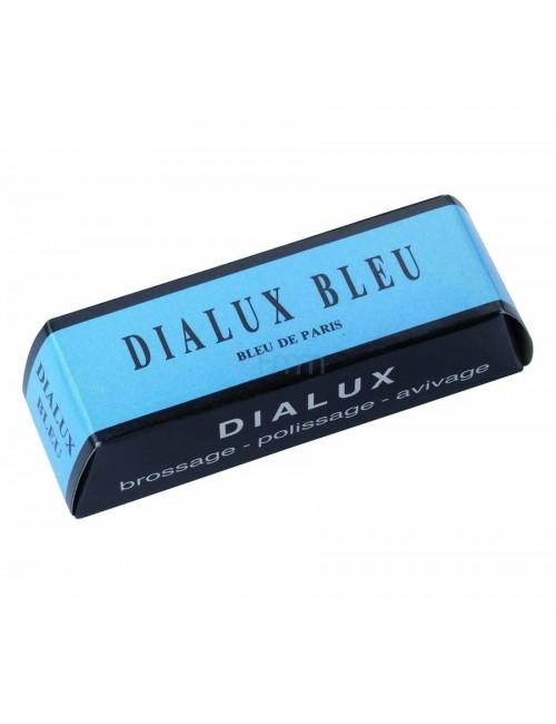 DIALUX BLEU PRODUIT A POLIR TOUS METAUX EN PAIN DE 120 GRS