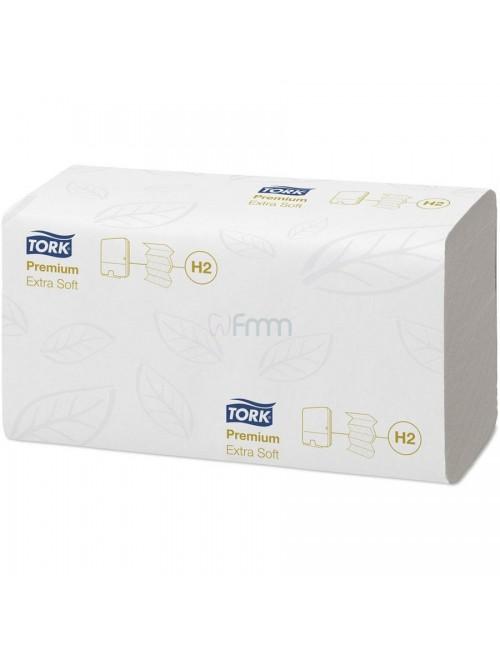 ESSUIE-MAINS TORK PREMIUM X-SOFT 34X21 CM BLANC LOT DE 2100